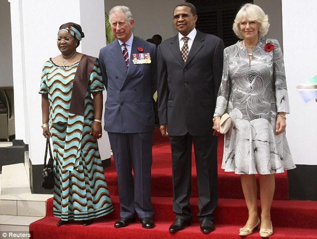 Prince Charles & Camilla greet Tanzanian President